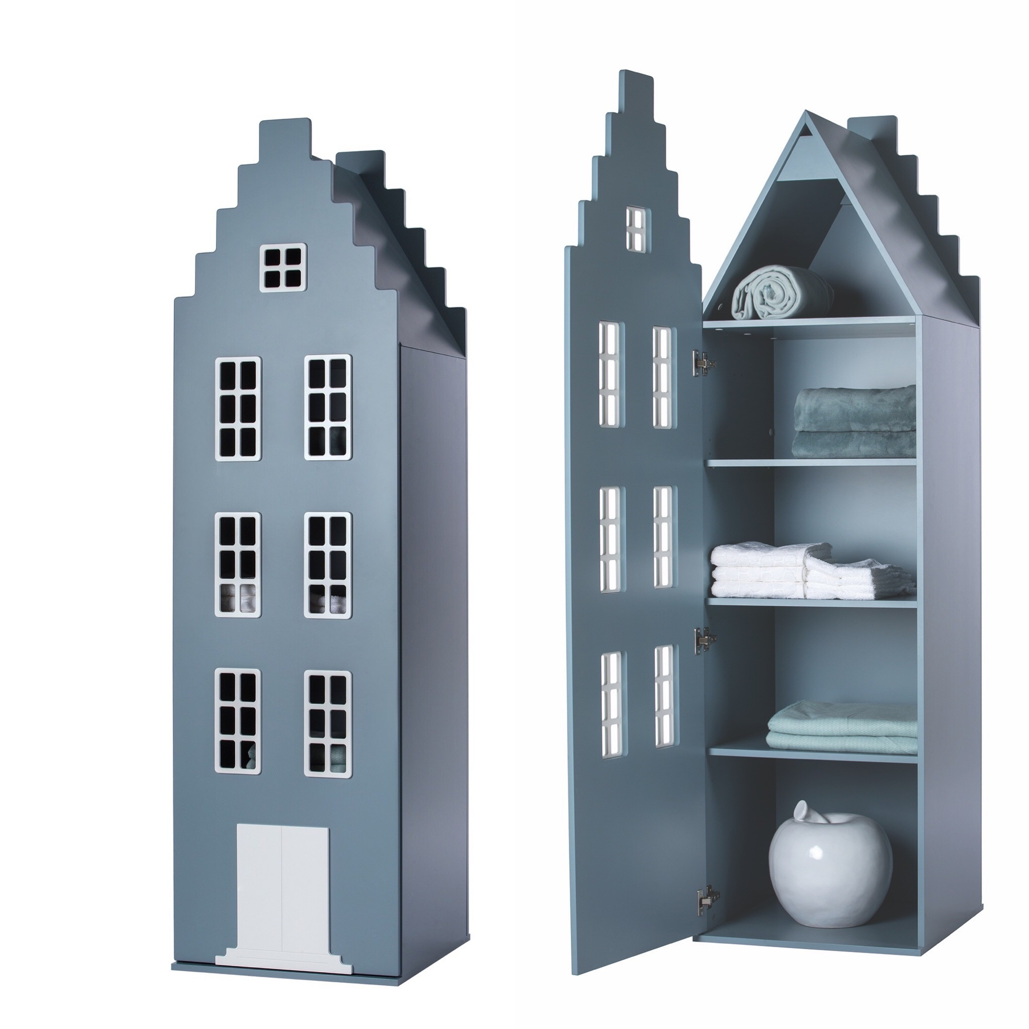 Cabinet Amsterdam Stairgable, 198/55/55 cm. All Colors.-5