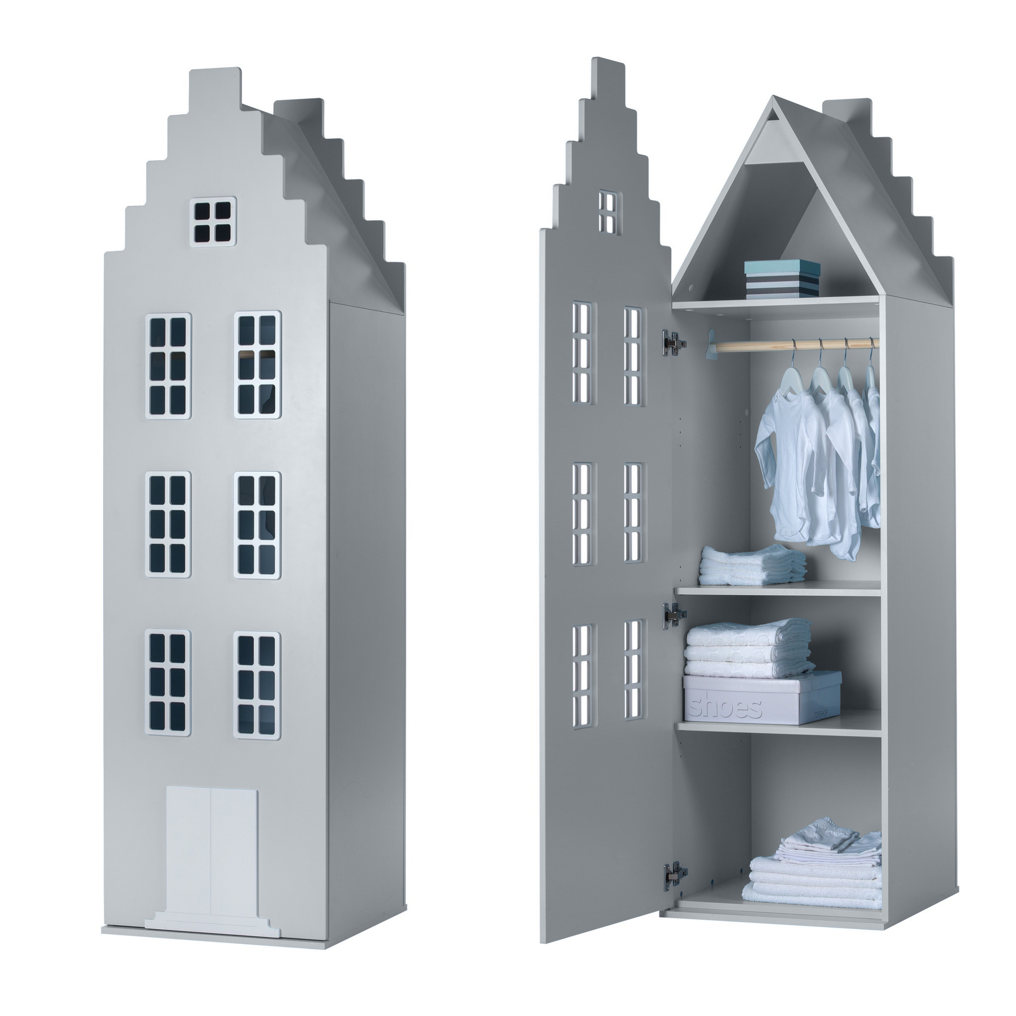 Cabinet Amsterdam Stairgable, 198/55/55 cm. All Colors.-2