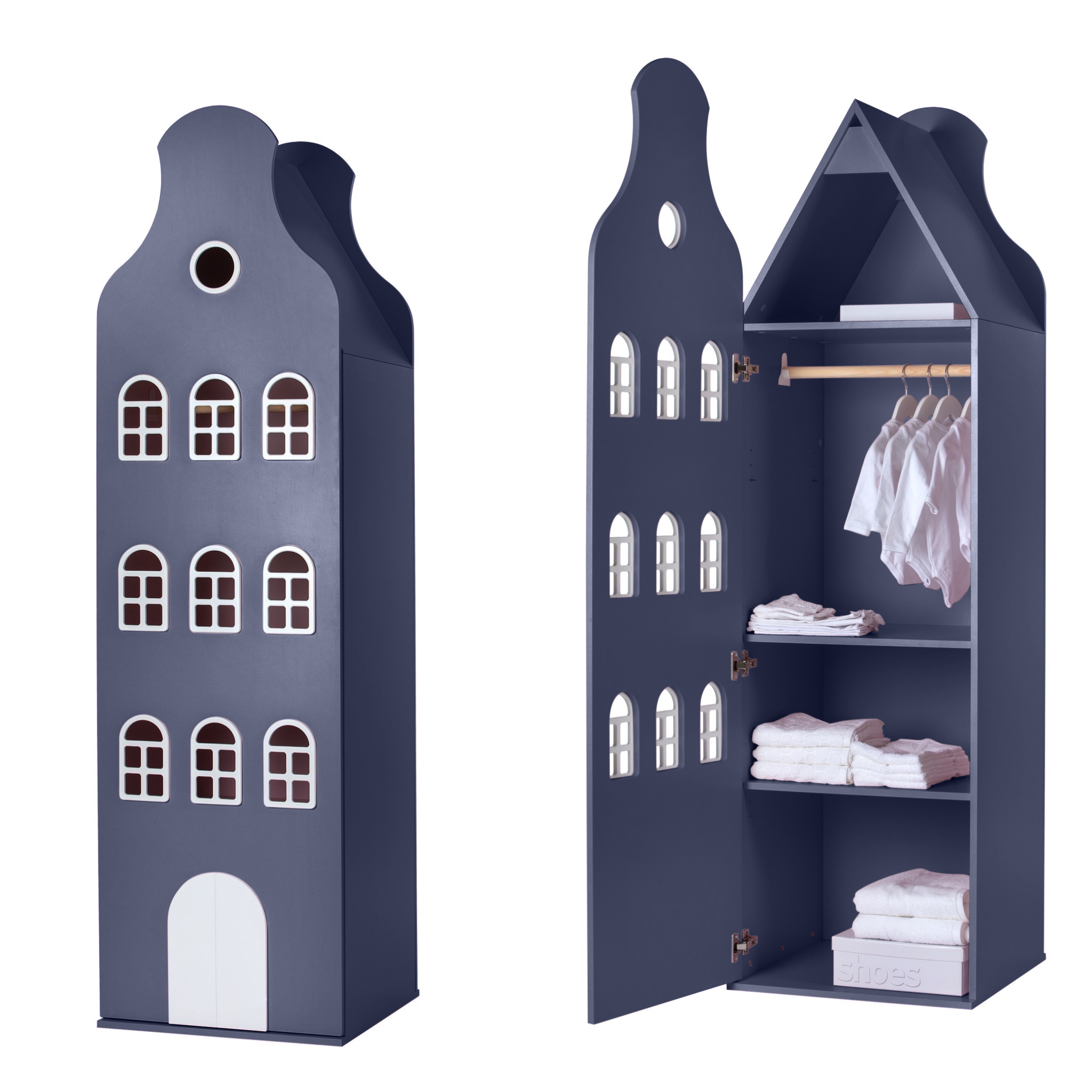 Cabinet Amsterdam Bellgable, XL 216/60/60 cm. All colors.-4