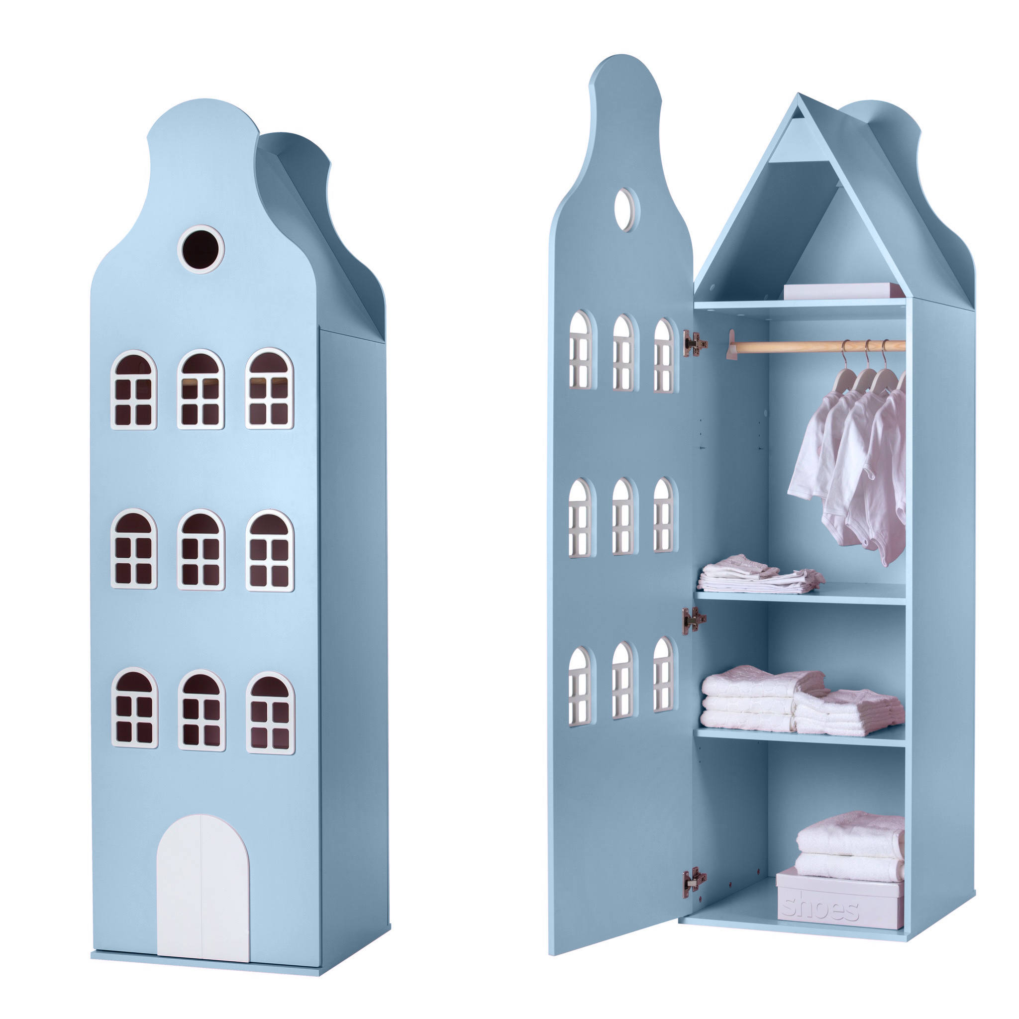 Cabinet Amsterdam Bellgable, XL 216/60/60 cm. All colors.-5