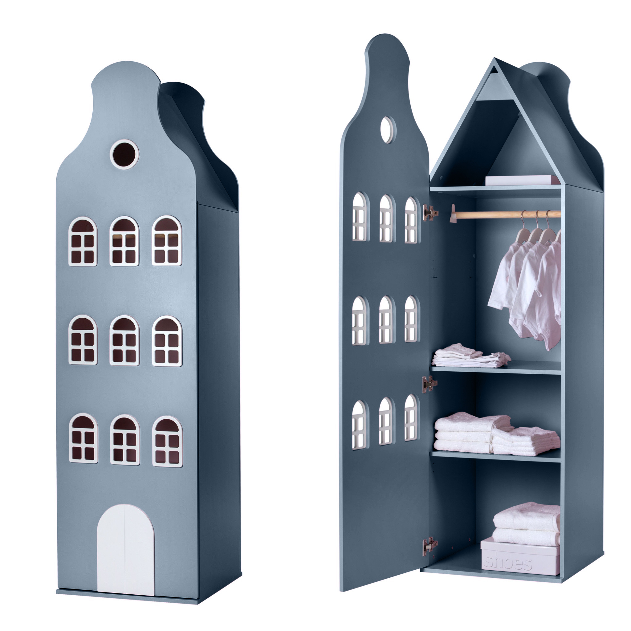 Cabinet Amsterdam Bellgable, XL 216/60/60 cm. All colors.-6
