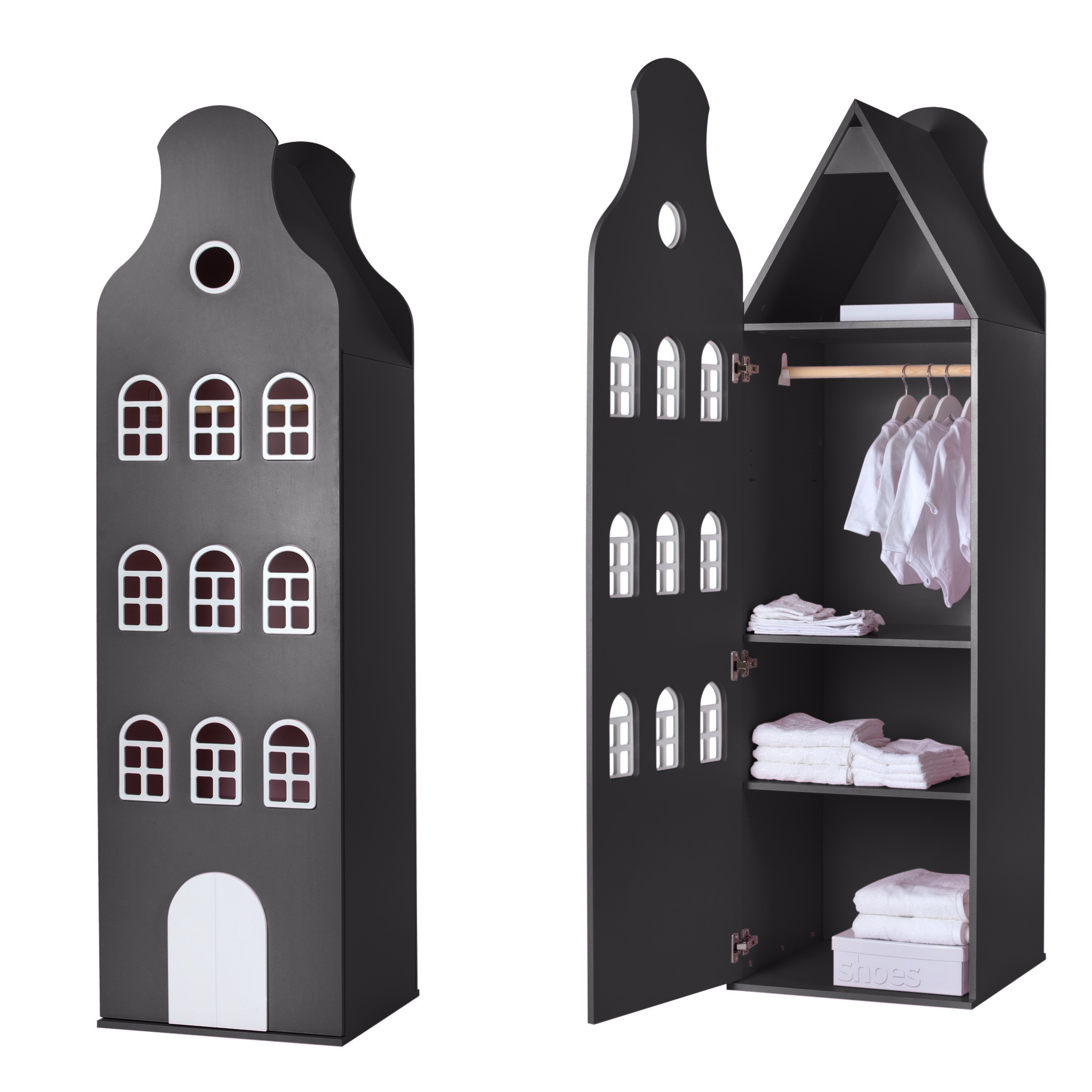 Cabinet Amsterdam Bellgable, XL 216/60/60 cm. All colors.-8