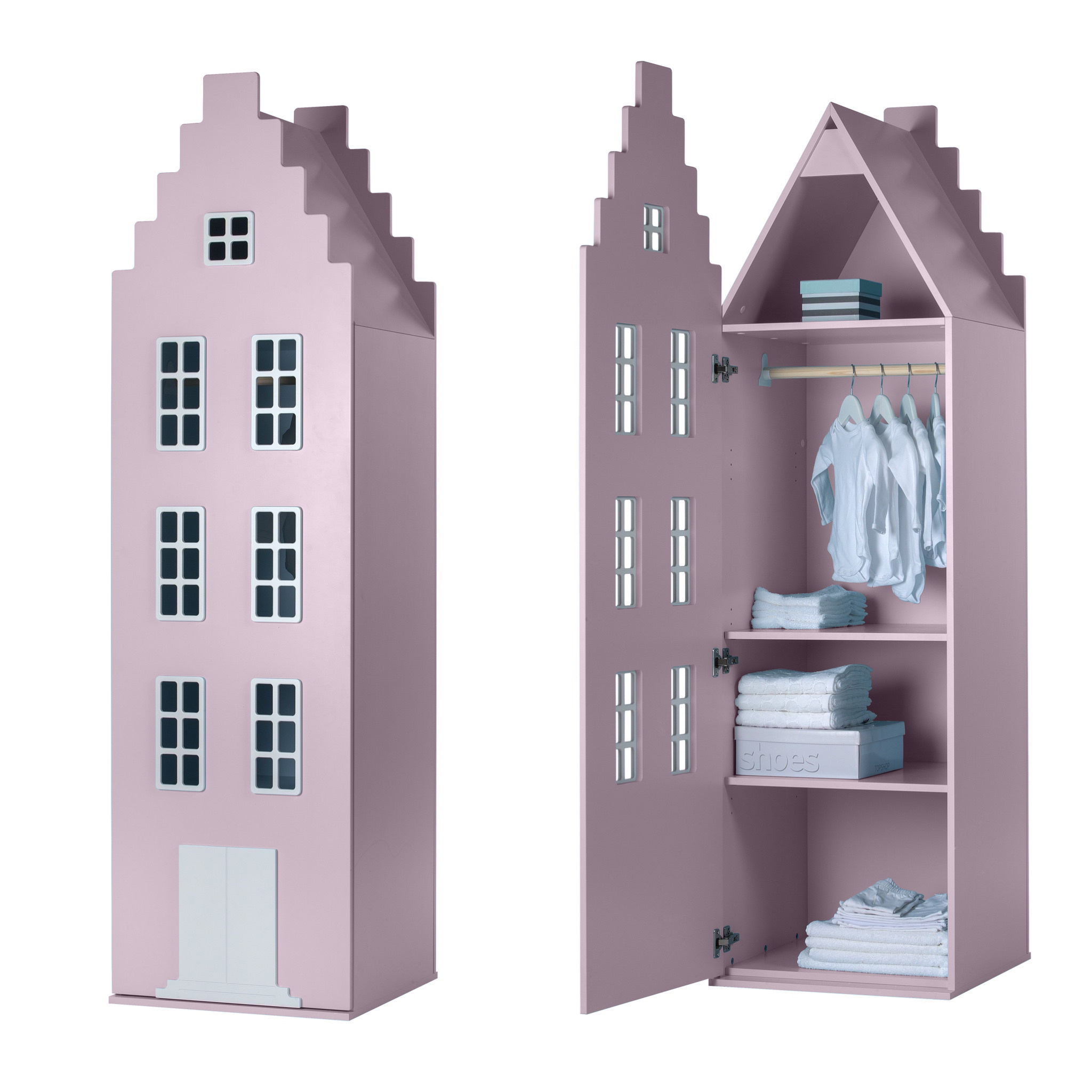 Cabinet Amsterdam Stairgable XL 216/60/60 cm, all colors-7