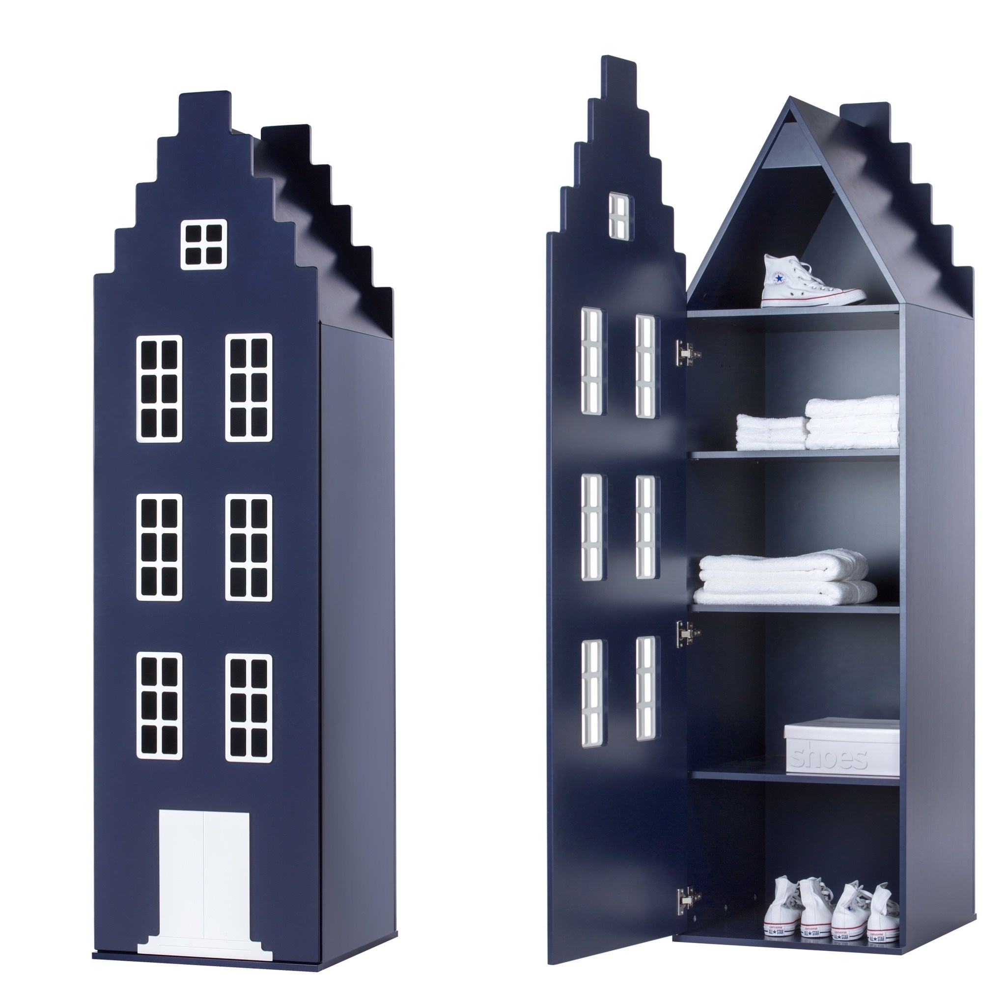 Cabinet Amsterdam Stairgable, 198/55/55 cm. All Colors.-8