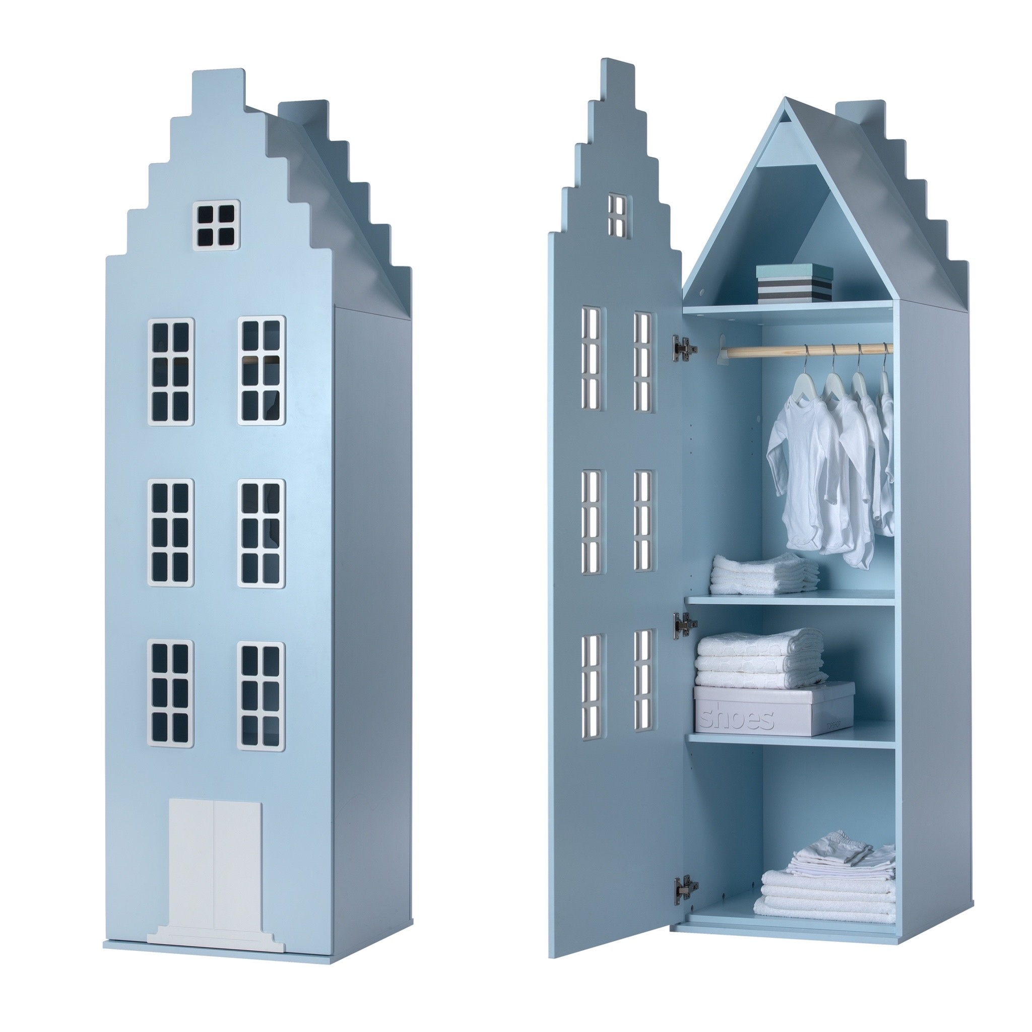 Cabinet Amsterdam Stairgable, 198/55/55 cm. All Colors.-9