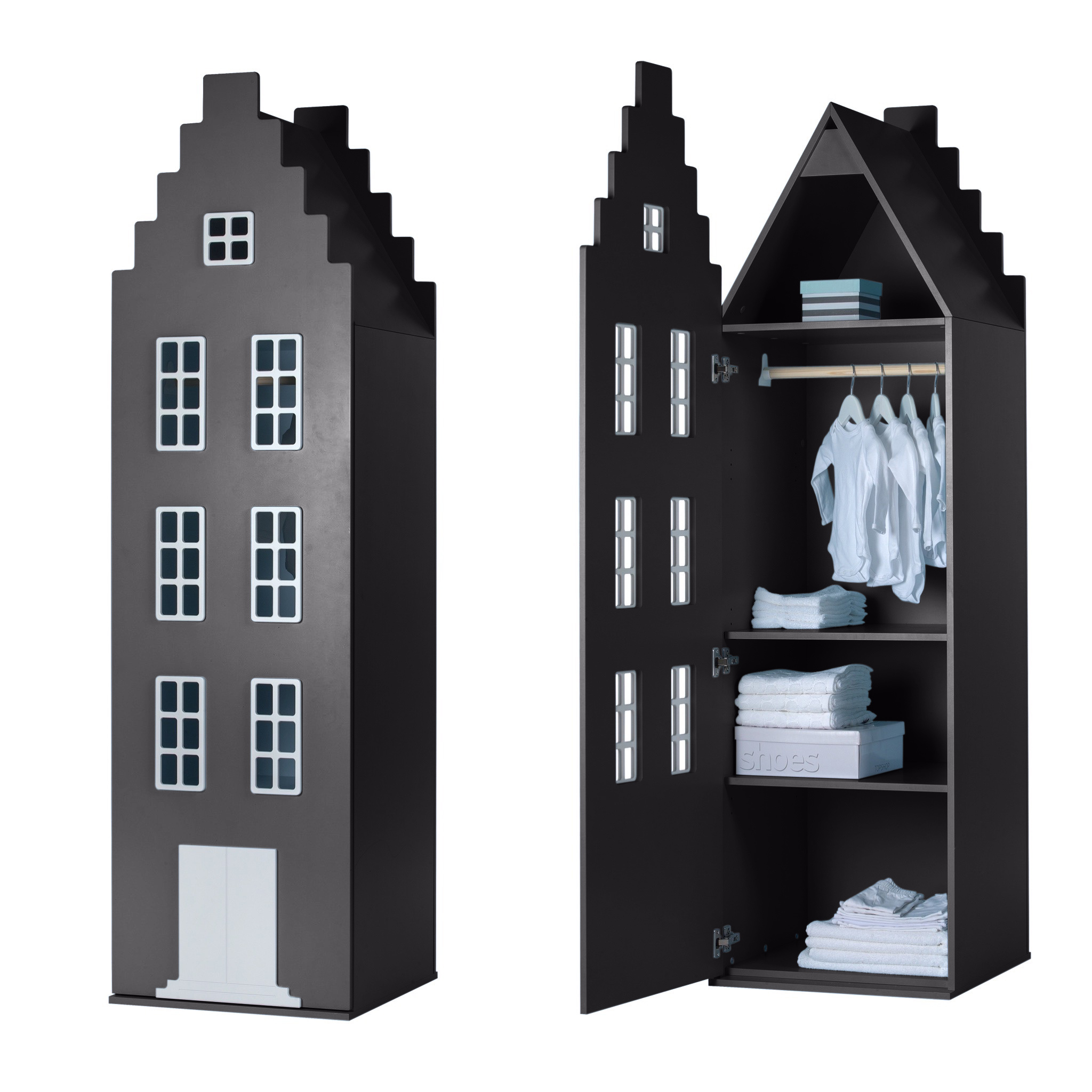 Cabinet Amsterdam Stairgable, 198/55/55 cm. All Colors.-10