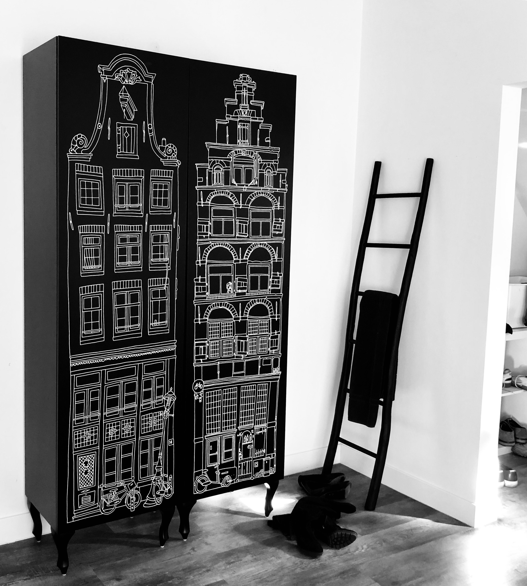 Cabinet Amsterdam Print Trapgevel/Stairgable-3