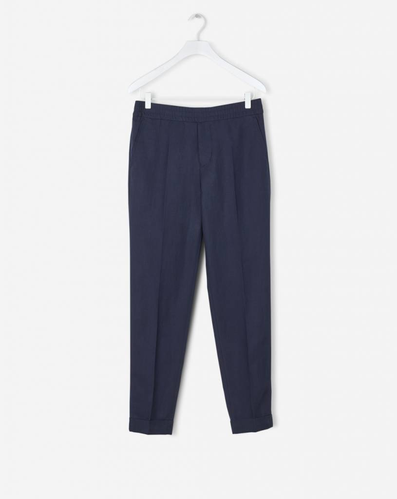 TERRY CROPPED LINEN SLACKS