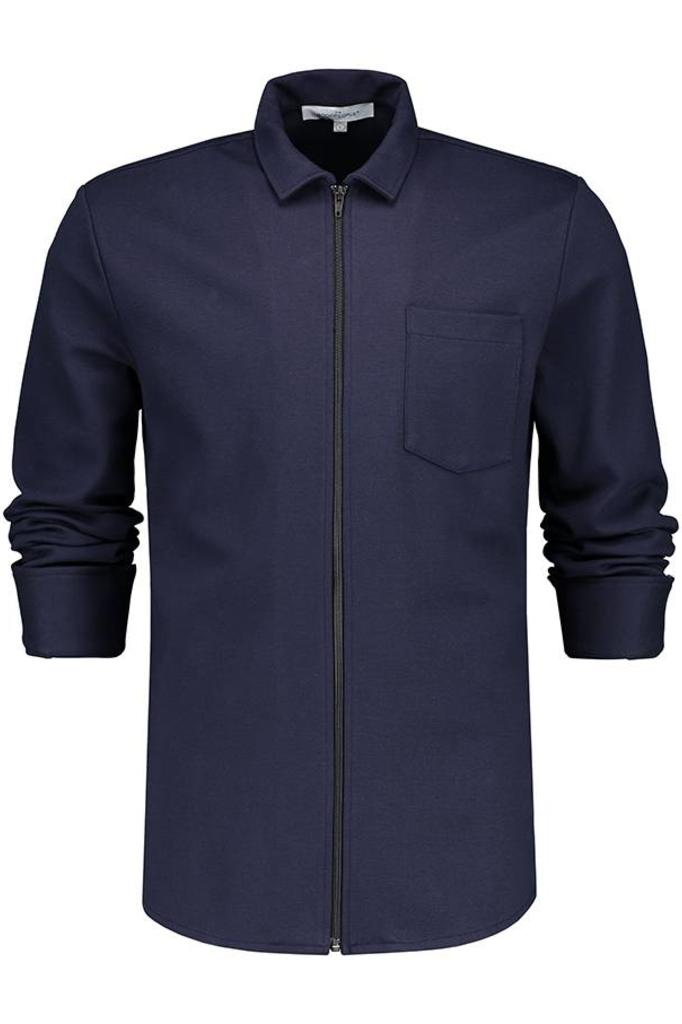 THE GOOD PEOPLE VALLEY ZIP JERSEY SHIRT