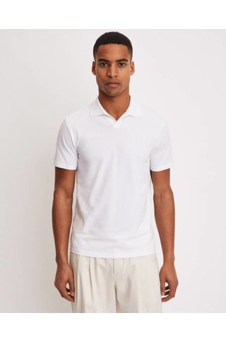 FILIPPA K SOFT LYCRA POLO T-SHIRT WHITE