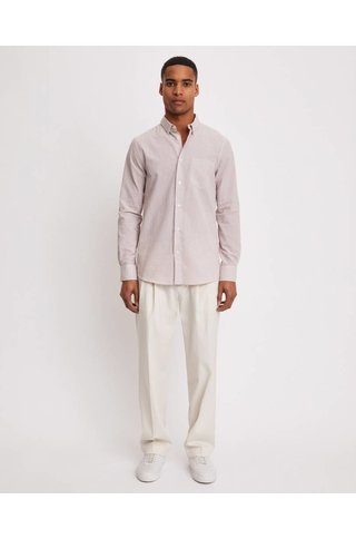 FILIPPA K TIM SEERSUCKER CHECK SHIRT FROSTY PINK/WHITE CHECK
