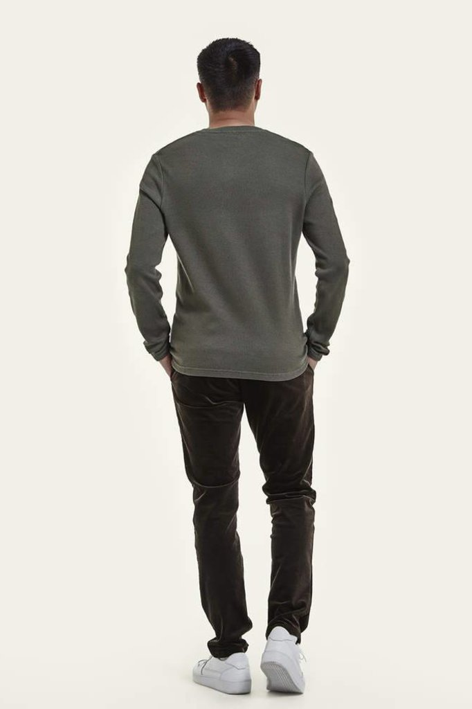 nno7 CLIVE LONG SLEEVE TEE GREEN
