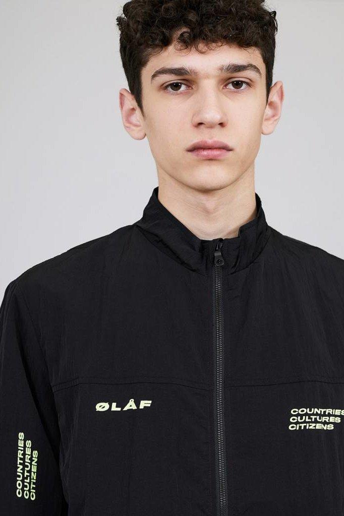 OLAF HUSSEIN CCC TRACK JACKET BLACK