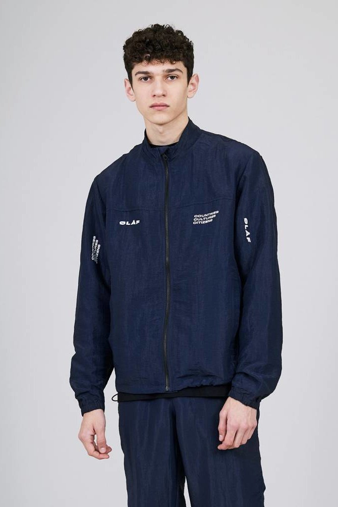 OLAF HUSSEIN CCC TRACK JACKET BLUE