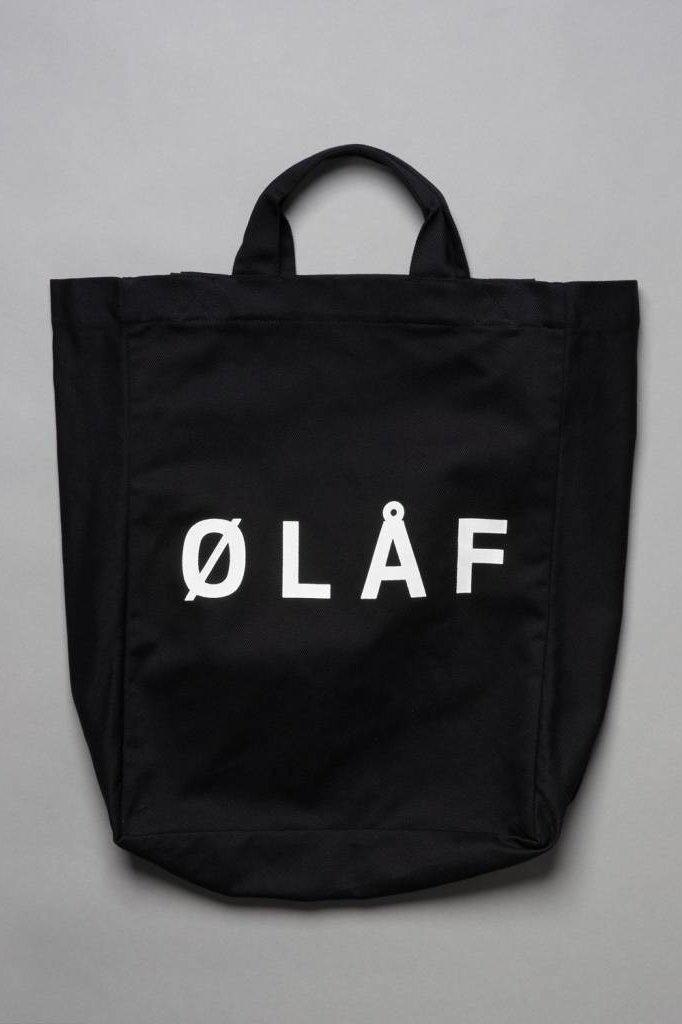 OLAF HUSSEIN TOTE BAG BLACK