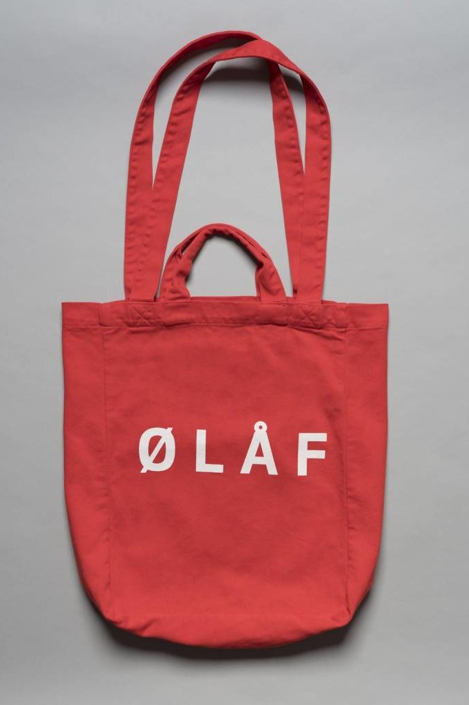 OLAF HUSSEIN TOTE BAG RED