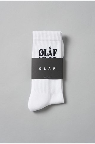 Olaf Hussein TRIPLE SOCKS  WHITE/BLACK
