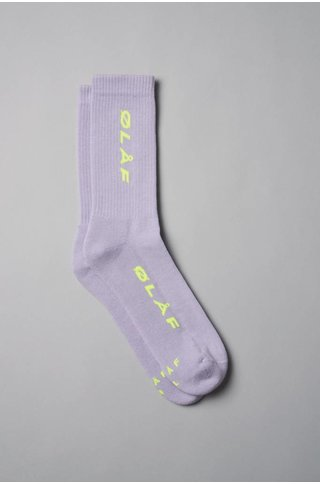 Olaf Hussein ITALIC SOCKS PURPLE/YELLOW