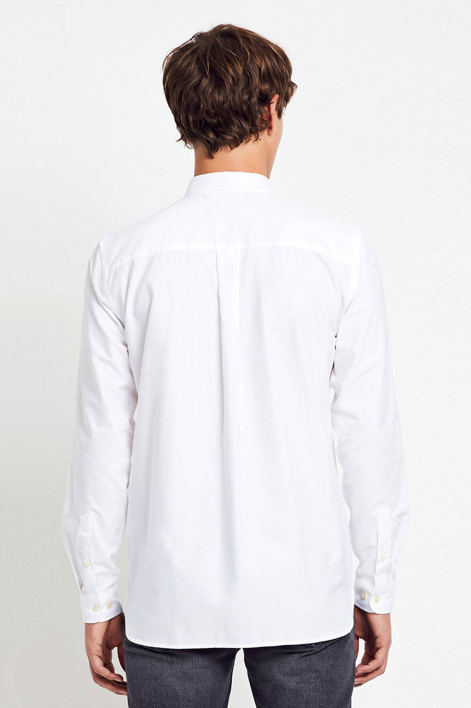 won hundred HENDRIX OXFORD SHIRT WHITE