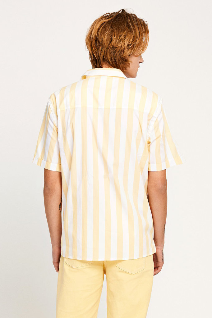 won hundred KIRBY SHIRT SUNDRESS YELLOW STRIPES