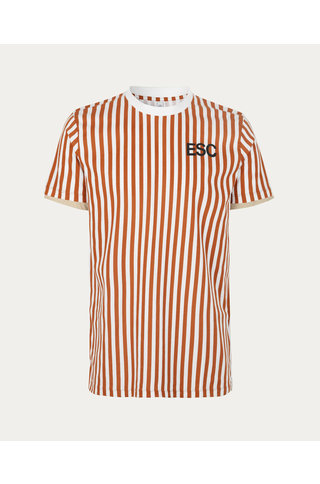 Won Hundred TROY STRIPE TSHIRT GLAZED GINGER