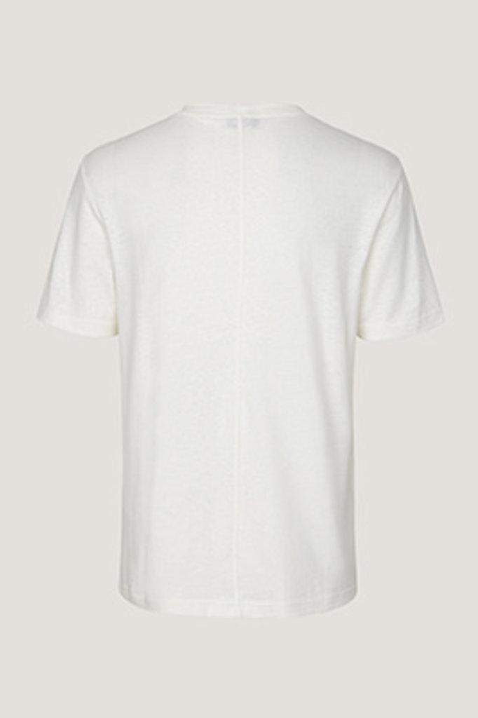 samsoe & samsoe ballum tshirt clear cream