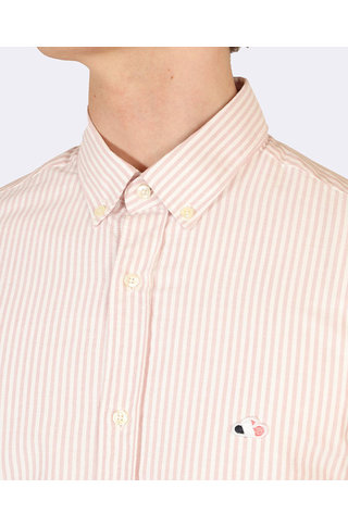 the goodpeople aloni shirt pink white stripe