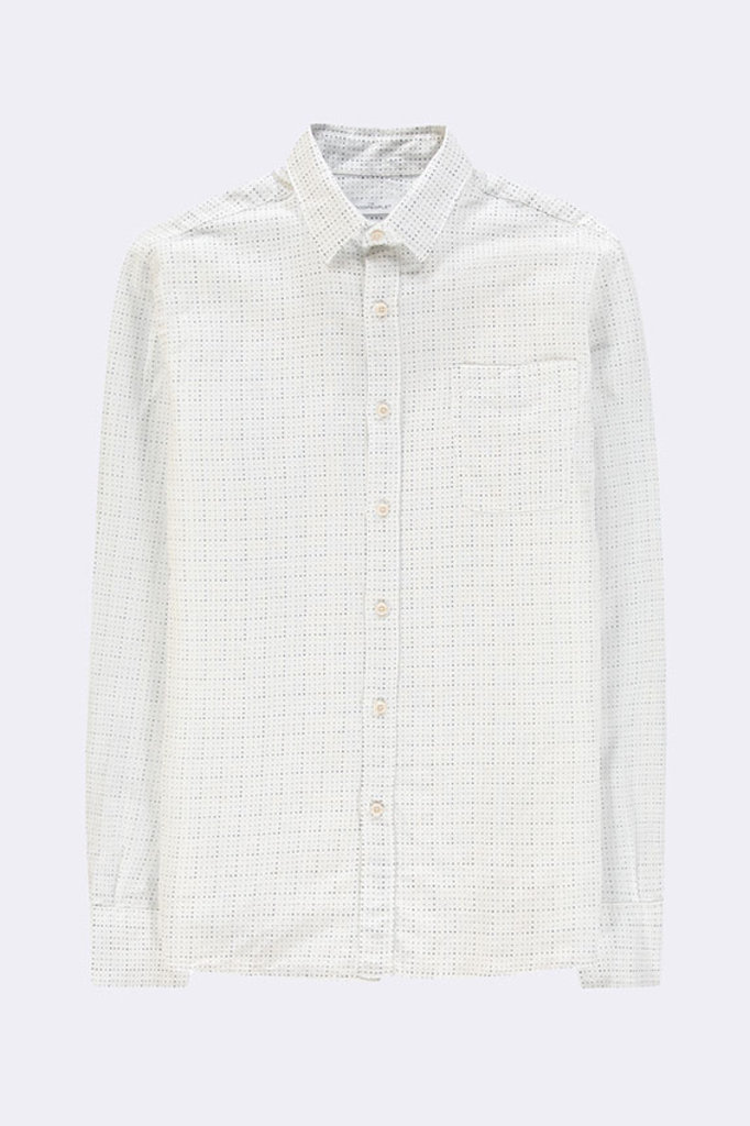 the GoodPeople button-up shirt falling white / navy