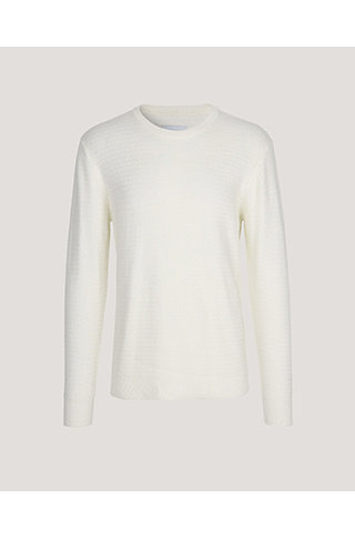 samsoe & samsoe eldert knit clear cream