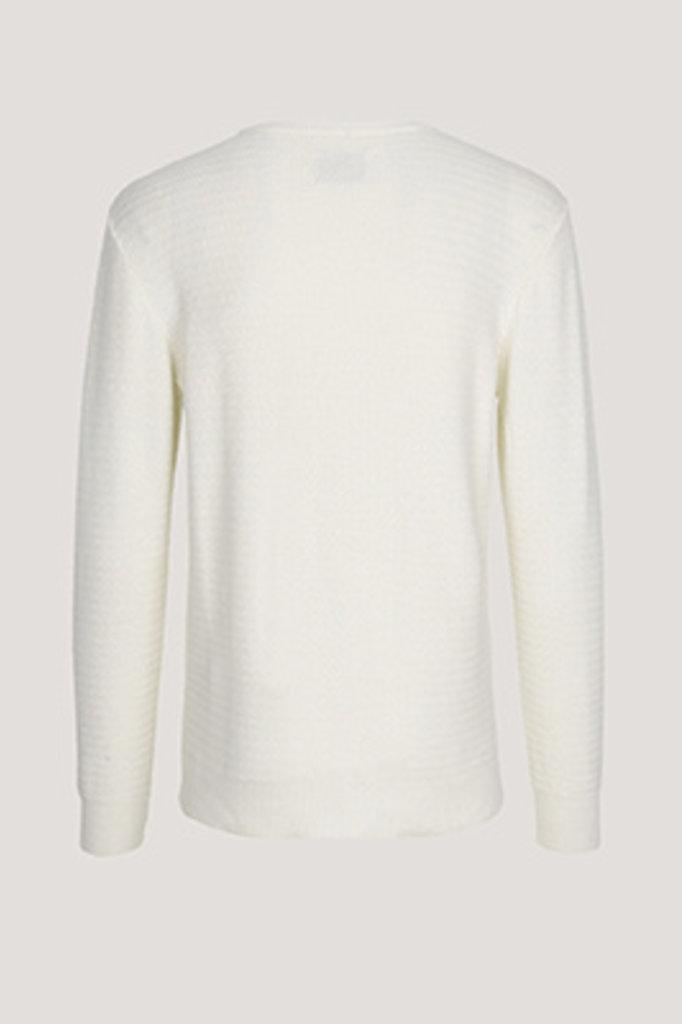 samsoe & samsoe eldert knit clear cream