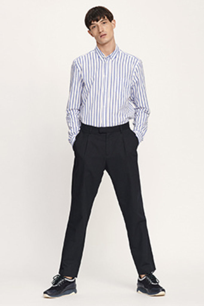 samsoe & samsoe liam white blue stripe