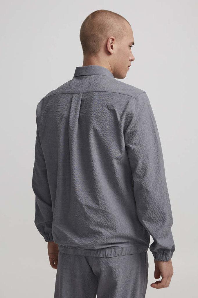 NN07 giuseppe overshirt grey mel