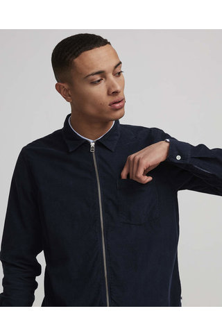 nno7 zip shirt navy blue