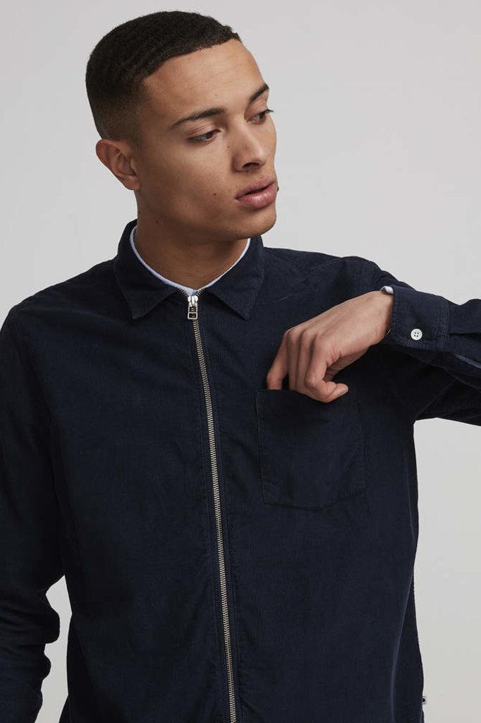 NN07 zip shirt navy blue