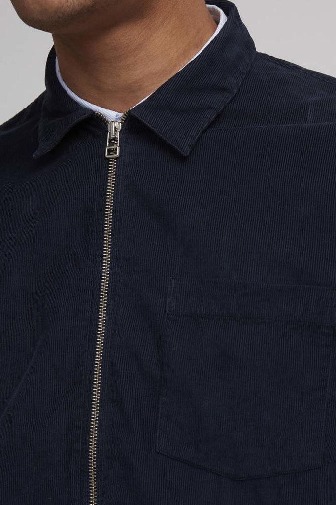 nno7 zip shirt navy blue