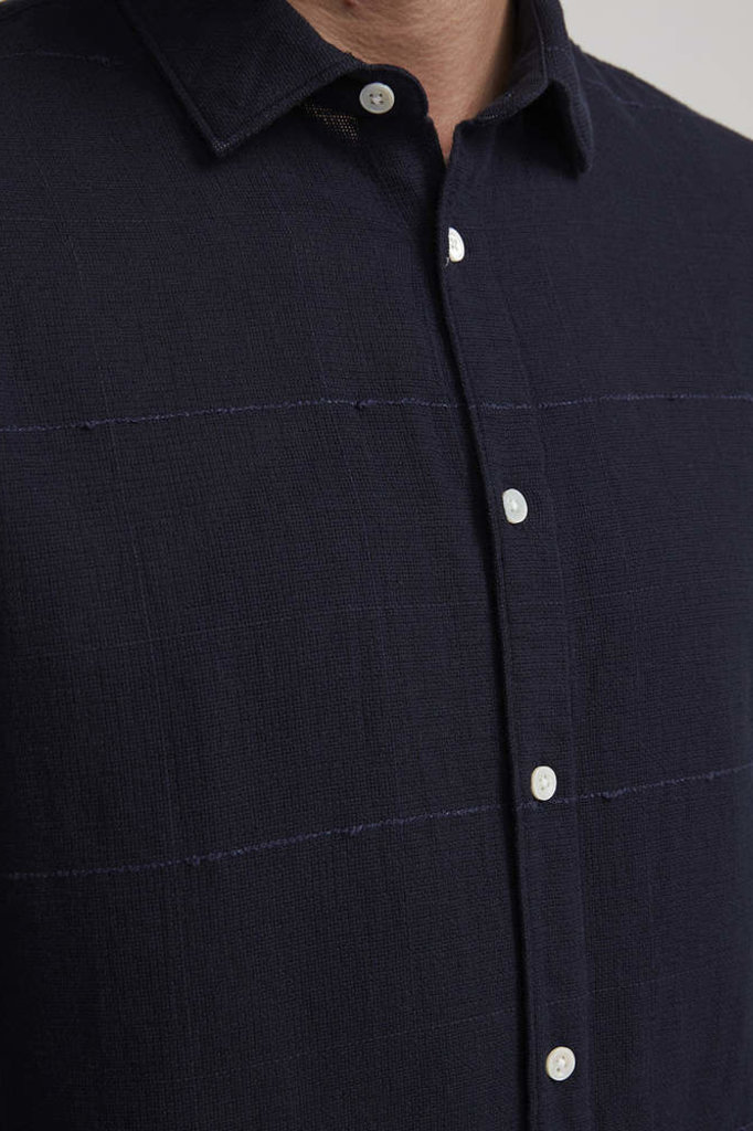 nno7 morgan shirt navy blue