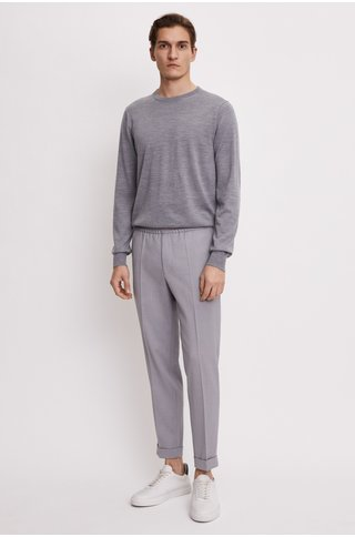 filippa k terry gabardine cropped pants silver
