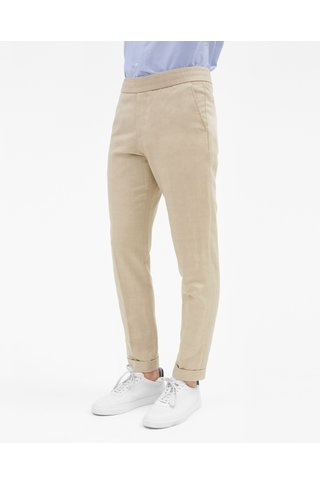 filippa k terry cropped linen slacks
