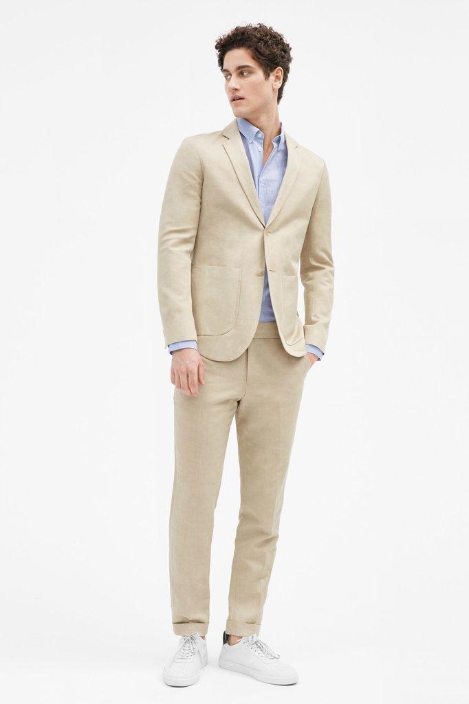 filippa k terry cropped linen slacks