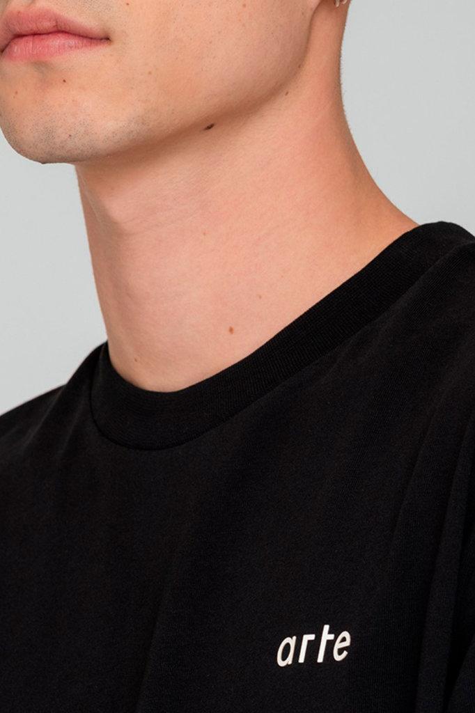 Arte troy logo tshirt black