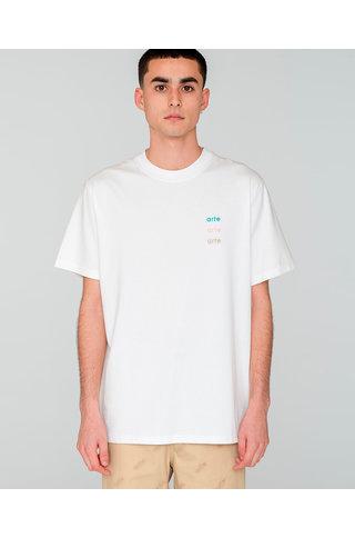 ARTE troy multi logo tshirt white