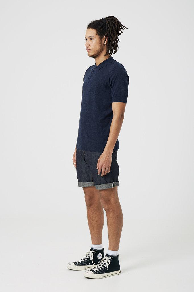 Denham cadet polo dress blue