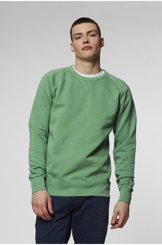 DENHAM crew sweat frosty spruce