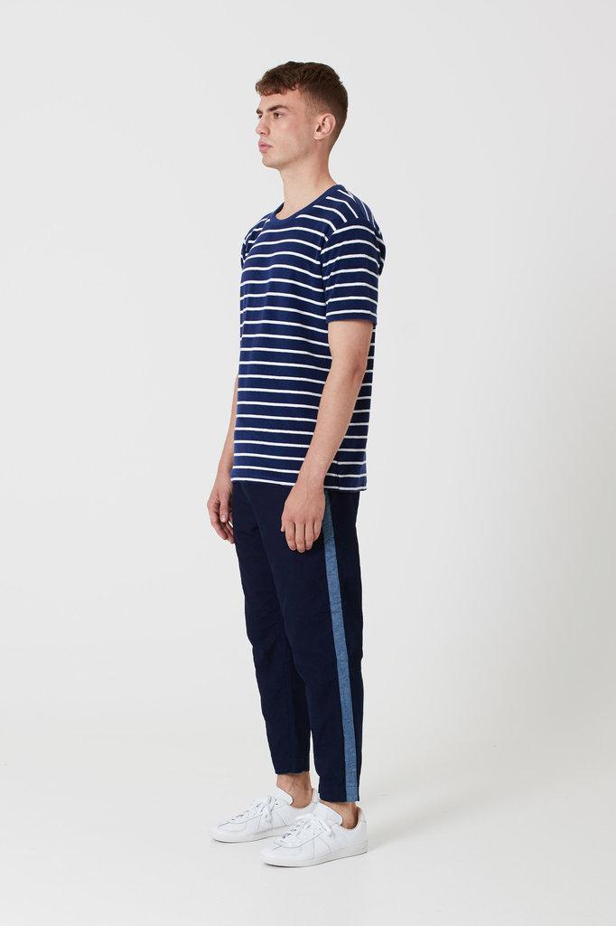 Denham tyler bts tee navy stripe