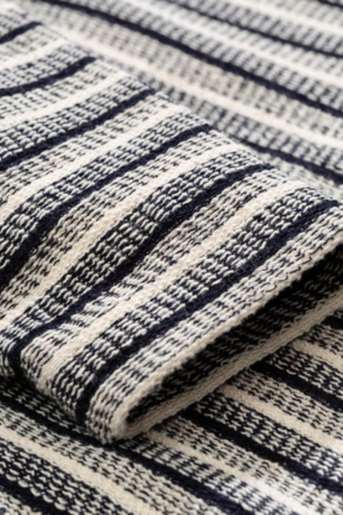 Norse Projects Johannes Texture Stripe LS - Ecru 0957