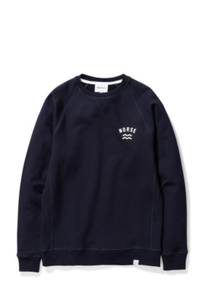 Norse Projects Ketel Ivy Wave Logo - Dark Navy 7004