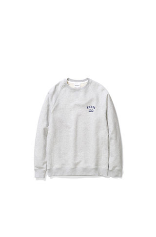 Norse Projects Ketel Ivy Wave Logo - Light Grey Melange 1026