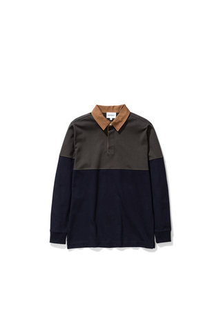 norse projects Ruben Polo Colour Block - Beech Green 8109