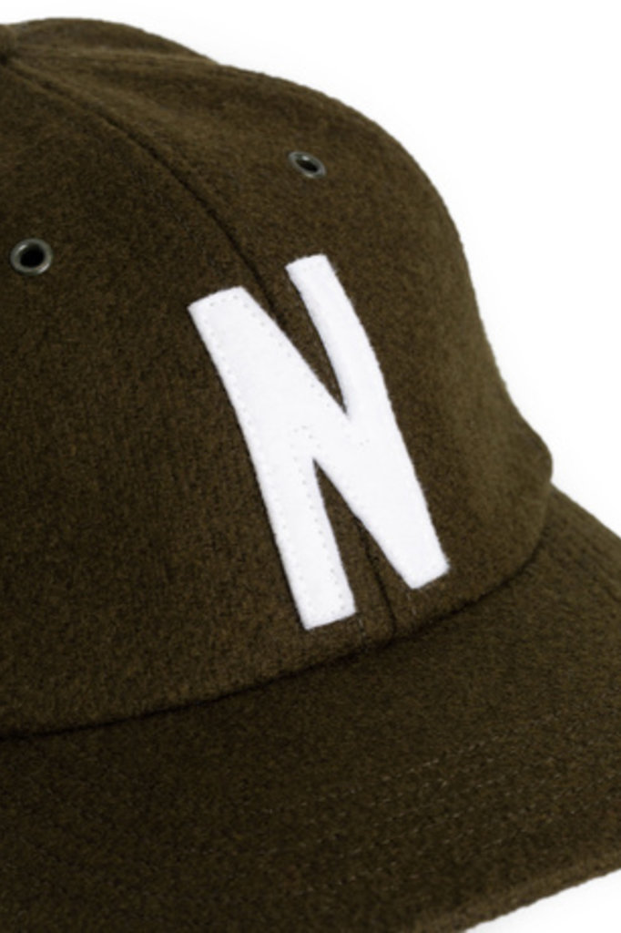 Norse Projects Wool Sports Cap - Beech Green 8109