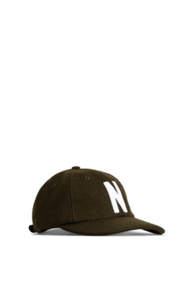 Norse Projects Wool Sports Cap - Beech Green 8109